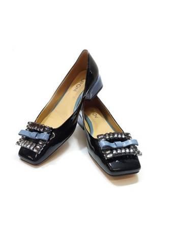 Włoskie czółeneka1221017TL Black Blue Tuffoni